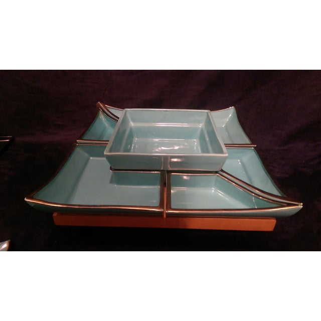 Mid-Century Asian Lazy Susan Serving Set - Image 4 of 10