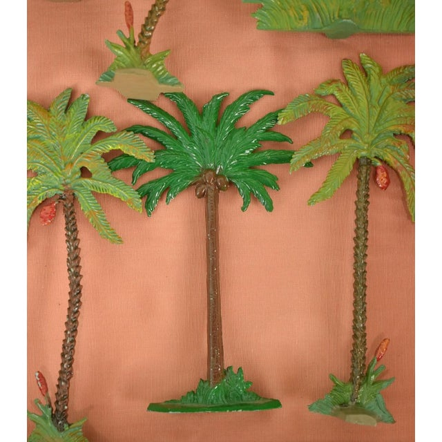 Vintage Mid-Century Hand-Painted Palm Trees - Set of 10 For Sale In New York - Image 6 of 11