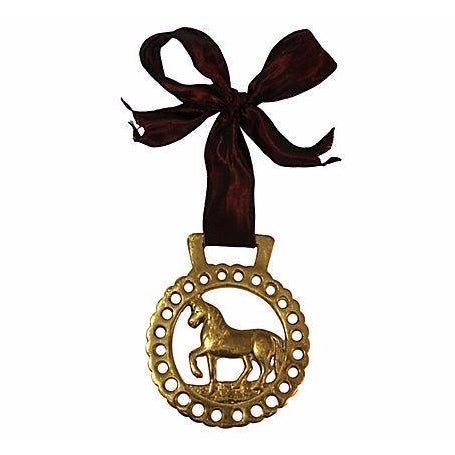 Antique English Brass Horse Ornament - Image 1 of 2