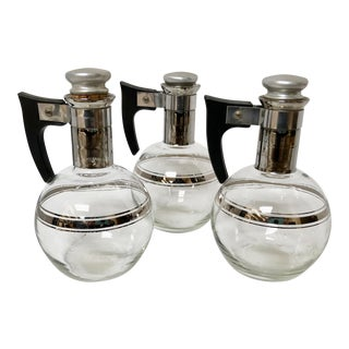 1950s Mid-Century Modern Inland Individual Coffee Pots - Set of 3 For Sale