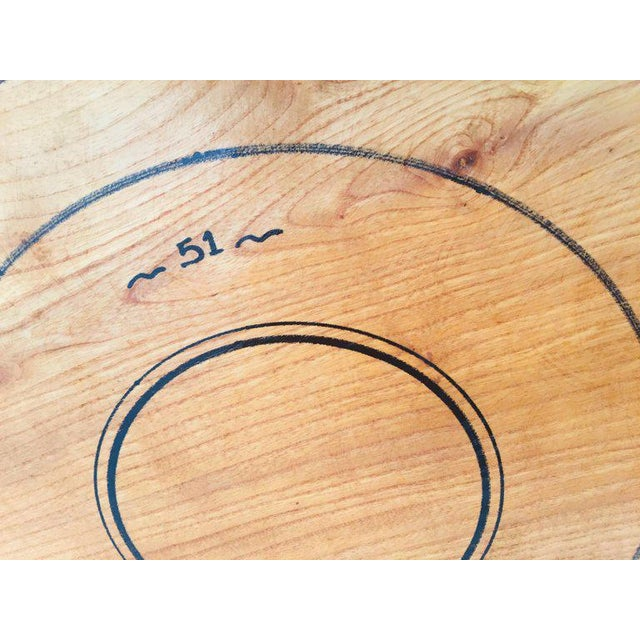 Mid 20th Century Massive Large Round African Primitive Hand Hewn Wood Dough Bowl For Sale - Image 5 of 13