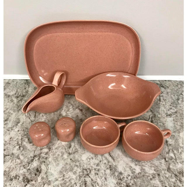 1950s Russel Wright Steubenville Pink Pottery Assortment - Set of 7 For Sale - Image 13 of 13