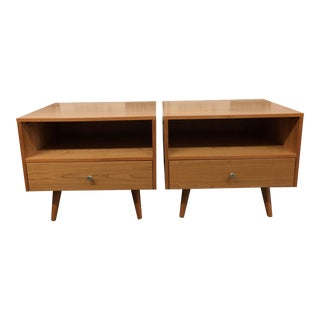 Room&Board Cherry Nightstands, a Pair For Sale
