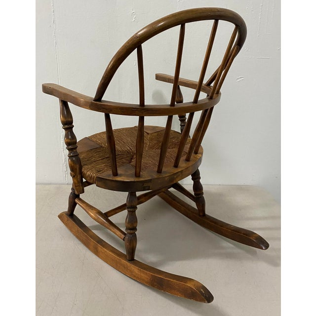 Late 19th Century Childs Windsor Rocking Chair For Sale In San Francisco - Image 6 of 10