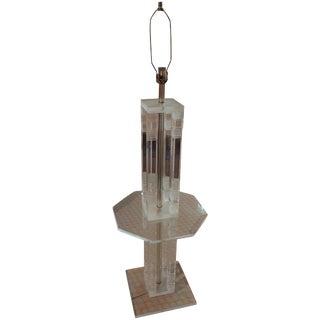 C. 1970 Lucite Floor Lamp For Sale