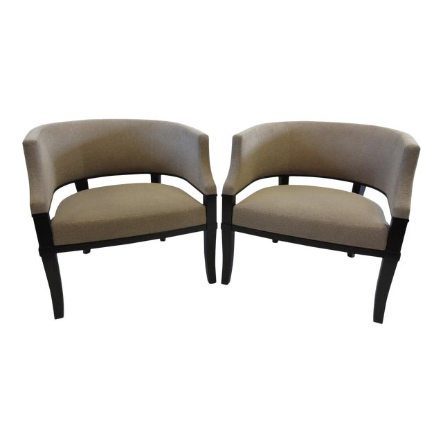 Christian Liaigre for Holly Hunt Club Chairs - a Pair For Sale