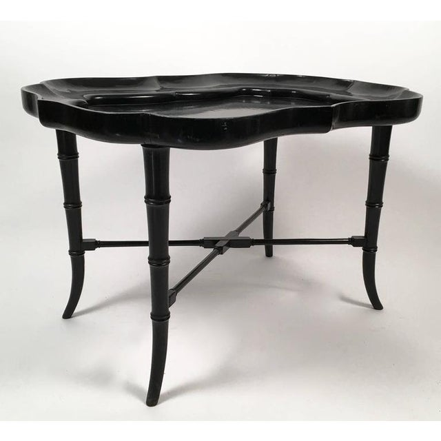 Black Lacquered Tray Top Coffee Table - Image 3 of 5