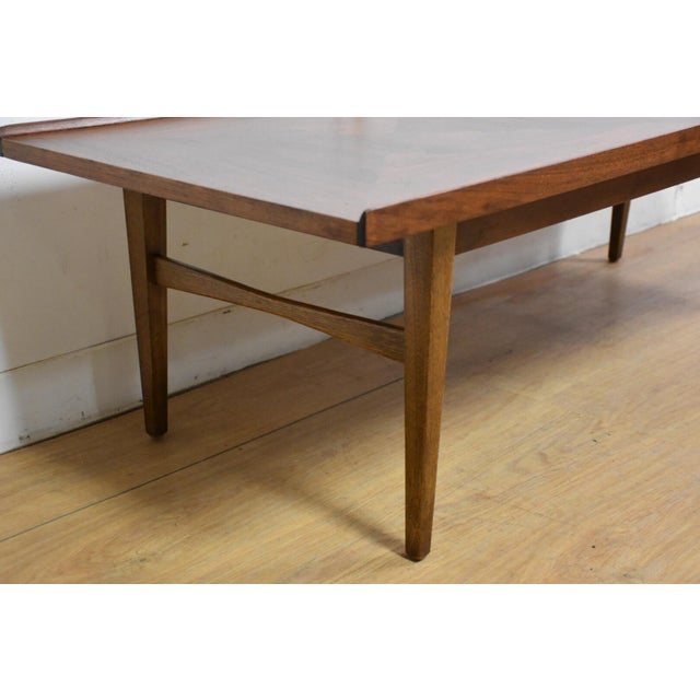 Walnut and Rosewood Coffee Table - Image 3 of 7