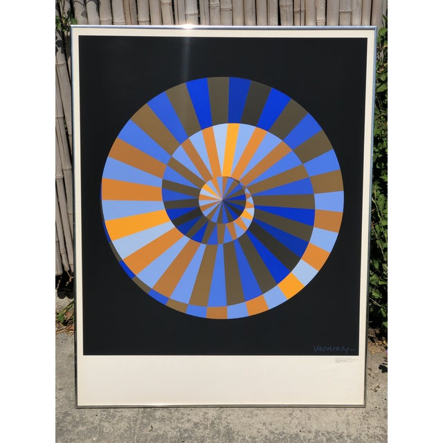 1972 Vintage Victor Vasarely Limited Edition Official Munich Olympic Serigraph Poster For Sale - Image 9 of 9