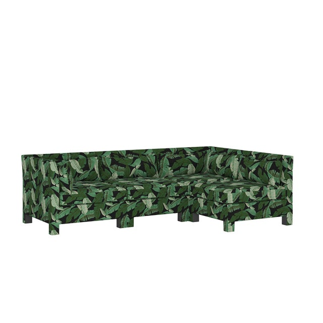 Banana Palm Black 4 Piece Sectional For Sale - Image 9 of 9