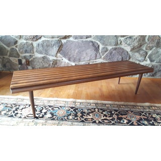 Mid Century Modern Slat Bench or Coffee Table Preview