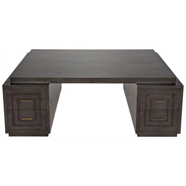 Mid-Century Modern Mentor Desk, Pale For Sale - Image 3 of 7