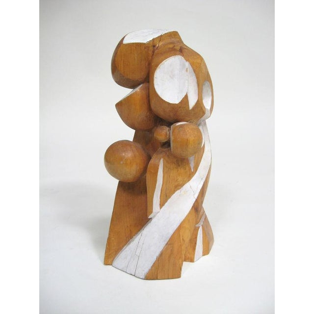 Abstract wood sculpture by Arthur Rossfield - Image 4 of 11