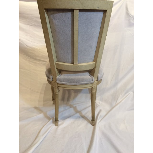Louis XVI Style Painted Chairs - Set of 6 For Sale - Image 4 of 9