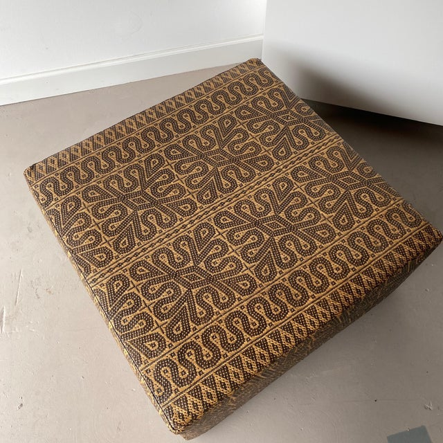 Textile Boho Chic Borneo Mat Coffee Table For Sale - Image 7 of 9