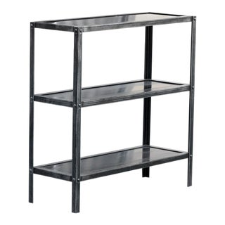 Custom Steel Three Tier Shelf by Rehab Vintage Interiors, Custom Made to Order For Sale