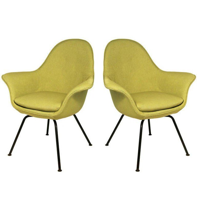 Pair of Mid-century Modern Chairs by Hans Bellman for Strassle, Switzerland 1954 For Sale In New York - Image 6 of 6