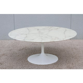 "Mid-Century Modern Eero Saarinen for Knoll 36"" Round Marble Coffee Table 1956 Preview"