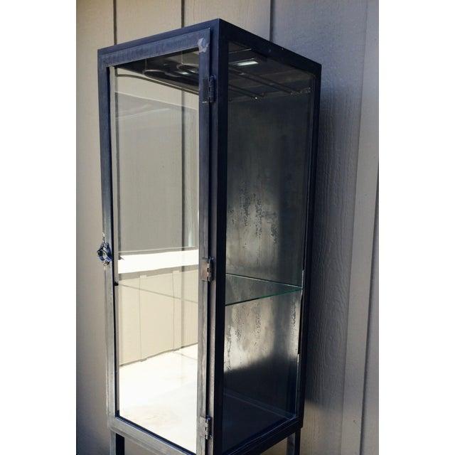 Vintage Industrial Metal Cabinet For Sale - Image 4 of 10
