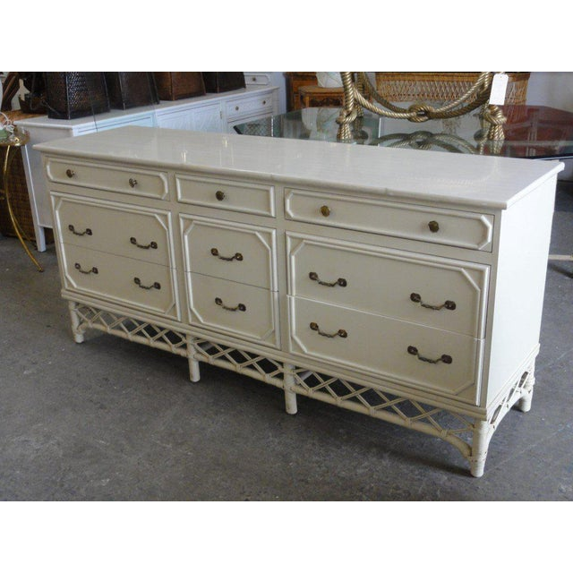 Late 20th Century Ficks Reed 9 Drawer Dresser For Sale - Image 5 of 5