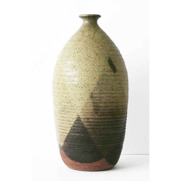 Ceramic Ceramic Pottery With Triangular Pattern For Sale - Image 7 of 7