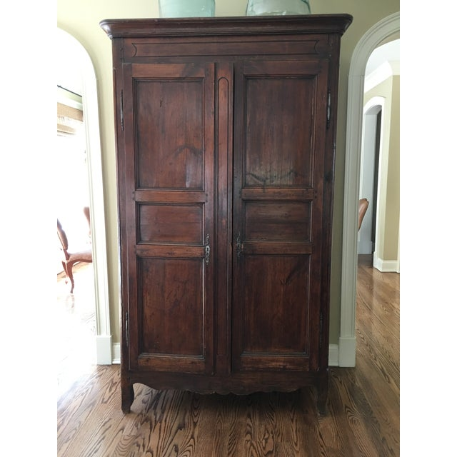 1850 French Traditional Pine Armoire For Sale In Chicago - Image 6 of 6