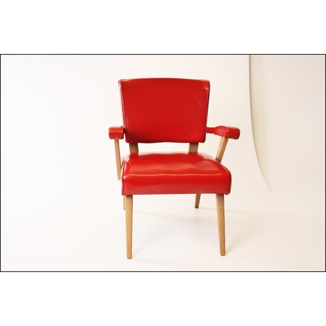 Mid Century Modern Red Viking Artline Slipper Chair For Sale - Image 6 of 11