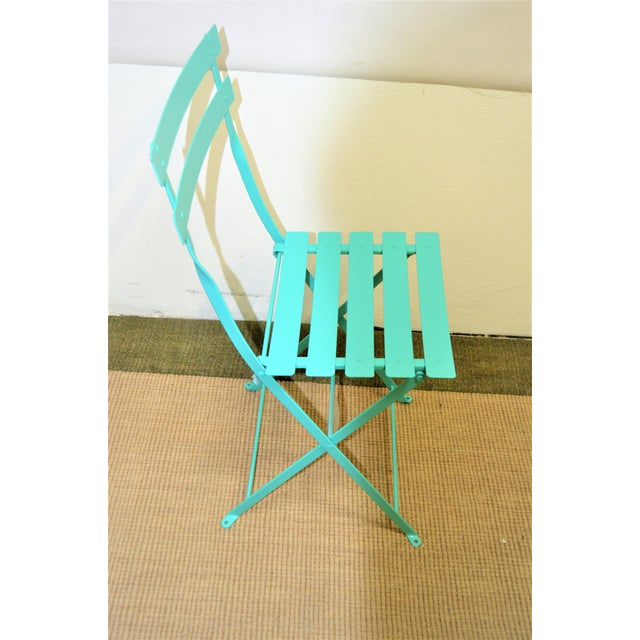 Fermob Bistro Lagoon Blue Chair For Sale In Las Vegas - Image 6 of 8