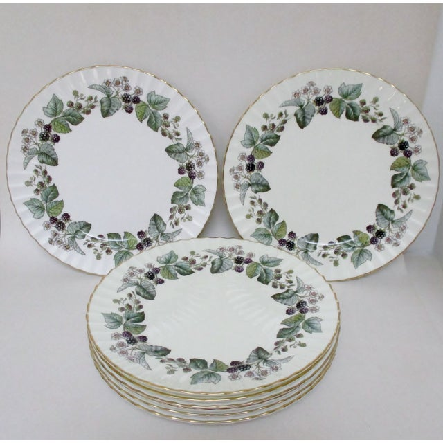 English Traditional Vintage Royal Worcester Plates - Set of 24 For Sale - Image 3 of 7