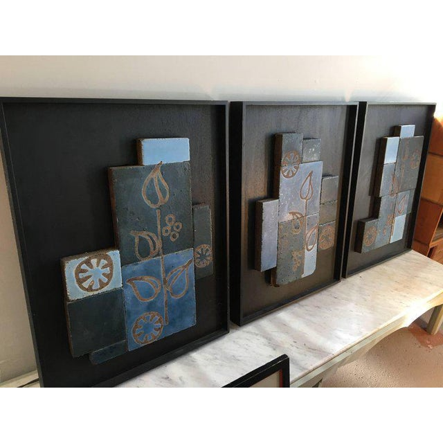 Set of Three Glazed Tile Assemblages from the South of France For Sale In New York - Image 6 of 6