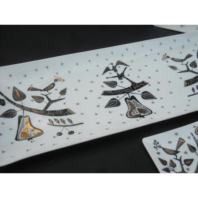 Mid-Century Milk Glass Serving Trays - Set of 5 - Image 5 of 6