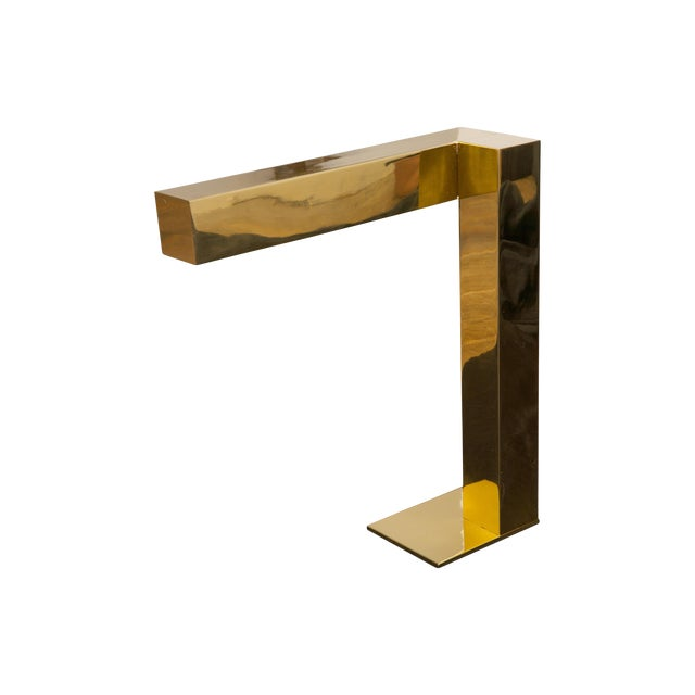 Latao Polido Brass Table Lamp For Sale