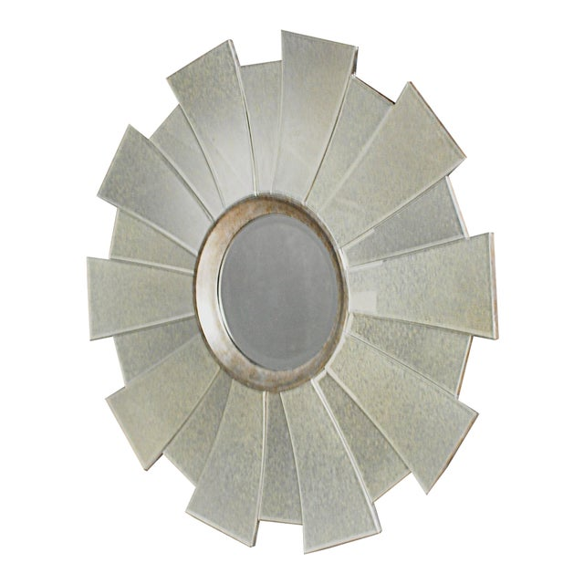 Contemporary Regency Sunburst Mirror - Image 1 of 3