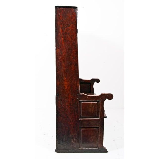 Iron 18th Century English Oak Bacon Settle For Sale - Image 7 of 11