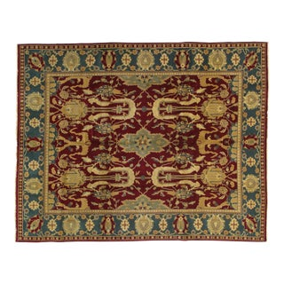 """Modern Indian Agra Rug-8'4"""" X 10'1"""" For Sale"""