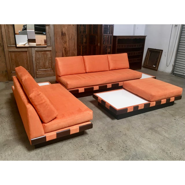 20th Century Adrian Persall Style Sofa Sectional and Coffee Table - 3 Pieces For Sale - Image 9 of 13