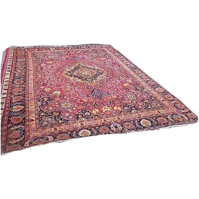 Semi Antique Persian Medallion Rug - 9' x 12' - Image 1 of 10