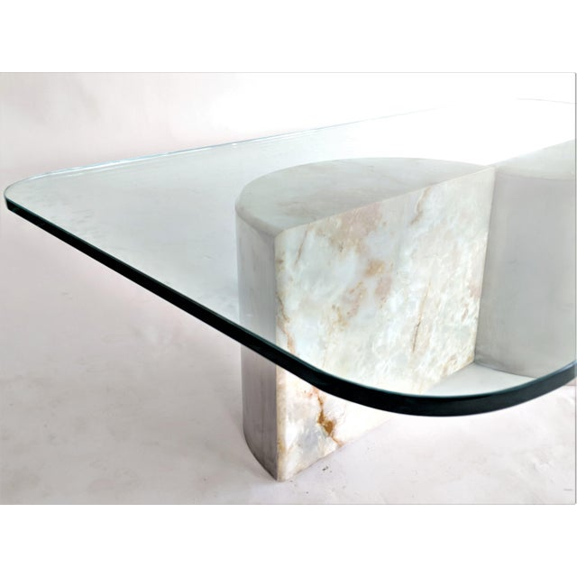 Aluminum and Onyx Coffee Table For Sale In Miami - Image 6 of 7