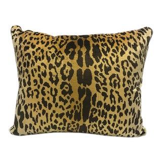 Scalamandre Old World Weavers Piccolo Silk Velvet Leopard Pillow For Sale
