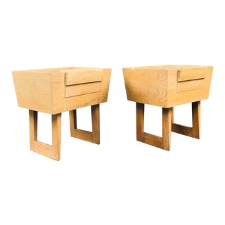 1950s Mid-Century Modern Paul Laszlo for Brown & Saltman Nightstands - a Pair For Sale