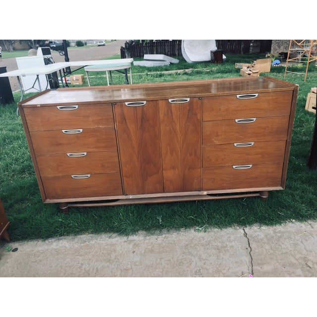 1974 Broyhill Premier Division Credenza With Mirror For Sale - Image 12 of 12
