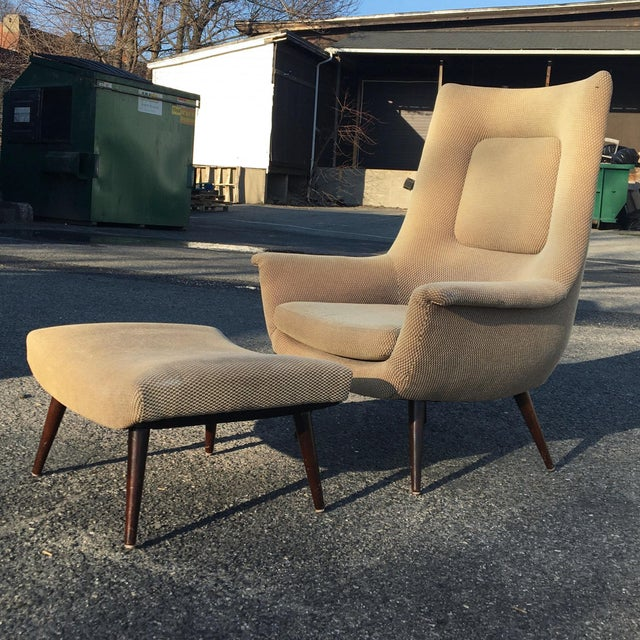 1960s Lawrence Peabody for Selig Holiday Group High Back Chair For Sale - Image 5 of 5