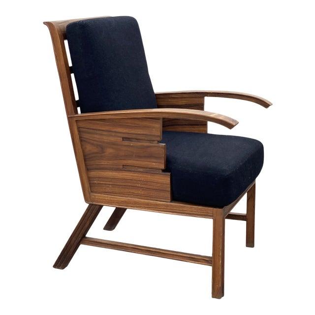 Danish Cabinetmaker Rosewood Armchair For Sale