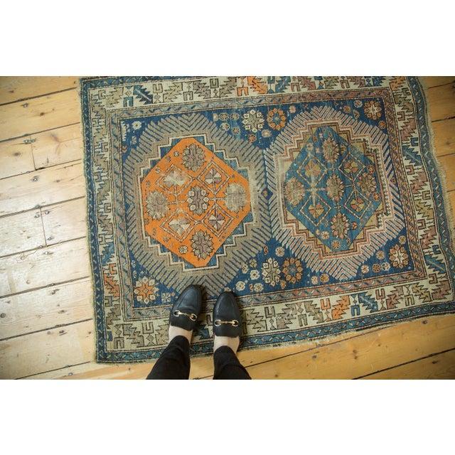 """Antique Caucasian Square Rug - 3'6"""" x 4'4"""" - Image 2 of 10"""