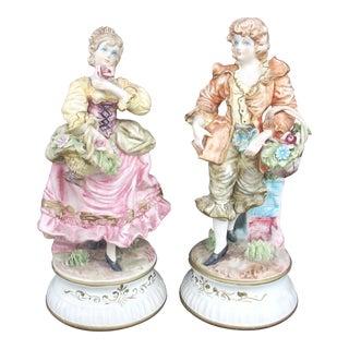 Vintage Capodimonte Figurines - A Pair