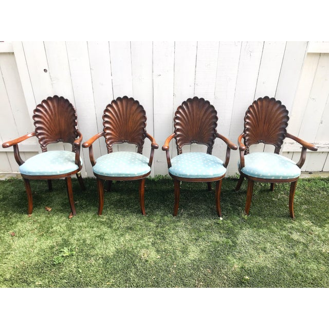 Late 20th Century Italian Venetian Grotto Dining Chairs- Set of 4 For Sale - Image 10 of 10