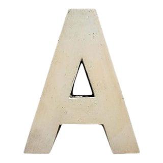 Vintage Wood Sign Letter A For Sale