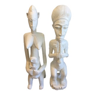 Figurative Bungalow 5 Kaduna White Statues - a Pair For Sale