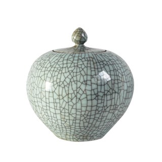 Crackle Pot with Lid