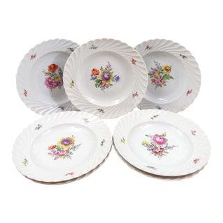 Vintage Nymphenburg Cream Rimmed Soup Bowls - Set of 7